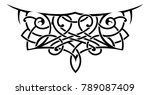 lace style tattoo shape. a... | Shutterstock .eps vector #789087409