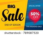 sale banner template design... | Shutterstock .eps vector #789087520