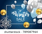 winter sale background special... | Shutterstock .eps vector #789087964