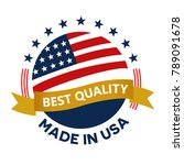 made in usa america  stamp ... | Shutterstock .eps vector #789091678