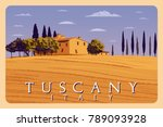 summer day in tuscany  italy.... | Shutterstock .eps vector #789093928