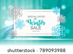 winter sale background special... | Shutterstock .eps vector #789093988