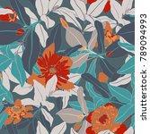 spring botanical seamless...   Shutterstock .eps vector #789094993