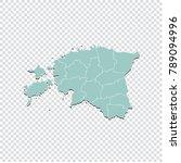 estonia map   high detailed... | Shutterstock .eps vector #789094996