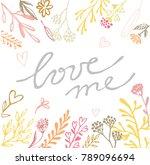 hand drawn doodle banner  ... | Shutterstock .eps vector #789096694