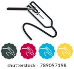 welding clamp and weld... | Shutterstock .eps vector #789097198