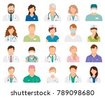 professional doctor avatars... | Shutterstock . vector #789098680