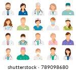 professional doctor avatars... | Shutterstock . vector #789098680