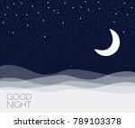 night concept background. good... | Shutterstock .eps vector #789103378
