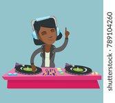 young african american dj... | Shutterstock .eps vector #789104260