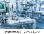 equipment and piping at modern... | Shutterstock . vector #789111670