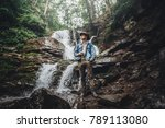 wanderlust and travel concept.... | Shutterstock . vector #789113080