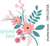 romantic flower arrangement ... | Shutterstock .eps vector #789113518
