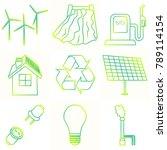 vector set of simple eco...   Shutterstock .eps vector #789114154