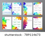 abstract vector modern flyers   ... | Shutterstock .eps vector #789114673