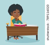 young pensive african student... | Shutterstock .eps vector #789116020
