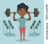 african american sporty woman... | Shutterstock .eps vector #789116398