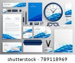 creative business stationery... | Shutterstock .eps vector #789118969