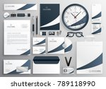 modern clean brand stationery... | Shutterstock .eps vector #789118990