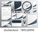 modern clean brand stationery... | Shutterstock .eps vector #789118990