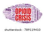 opioid crisis word cloud... | Shutterstock .eps vector #789119410