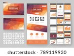 website template  one page... | Shutterstock .eps vector #789119920
