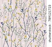 seamless pattern wind blow... | Shutterstock .eps vector #789121723