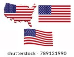 flag of america in the form of... | Shutterstock . vector #789121990