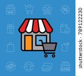 set of shopping icons. vector... | Shutterstock .eps vector #789122230