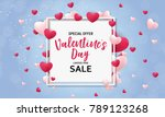 valentine's day love and... | Shutterstock .eps vector #789123268