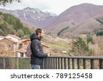 a young man traveler in the... | Shutterstock . vector #789125458