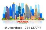 panama city   panama   skyline... | Shutterstock .eps vector #789127744
