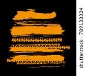 tire tracks print texture.... | Shutterstock .eps vector #789133324