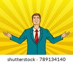 happy businessman with smile... | Shutterstock . vector #789134140