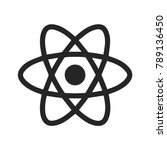 react native icon vector  atom... | Shutterstock .eps vector #789136450