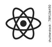 react native icon vector  atom... | Shutterstock .eps vector #789136450
