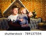 family together celebrates the ... | Shutterstock . vector #789137554