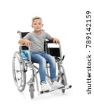 Little Boy In Wheelchair On...