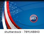 flag of usa background for... | Shutterstock .eps vector #789148843