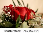 Stock photo beautiful red roses a combination of beauty and subtle naturalness 789152614