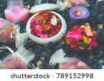 potpourri is a mixture of dried ... | Shutterstock . vector #789152998