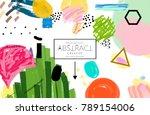 abstract universal art web... | Shutterstock .eps vector #789154006