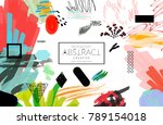 abstract universal art web... | Shutterstock .eps vector #789154018