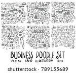 set of business illustration... | Shutterstock .eps vector #789155689