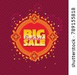 big sale festival poster design ... | Shutterstock .eps vector #789155818