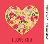valentines day menu design....   Shutterstock .eps vector #789156868