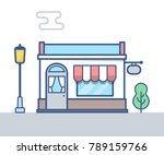 store building vector line... | Shutterstock .eps vector #789159766