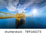 large offshore oil rig drilling ... | Shutterstock . vector #789160273