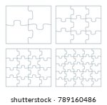 sets of puzzle pieces vector... | Shutterstock .eps vector #789160486