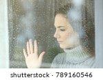 portrait of a sad girl looking... | Shutterstock . vector #789160546